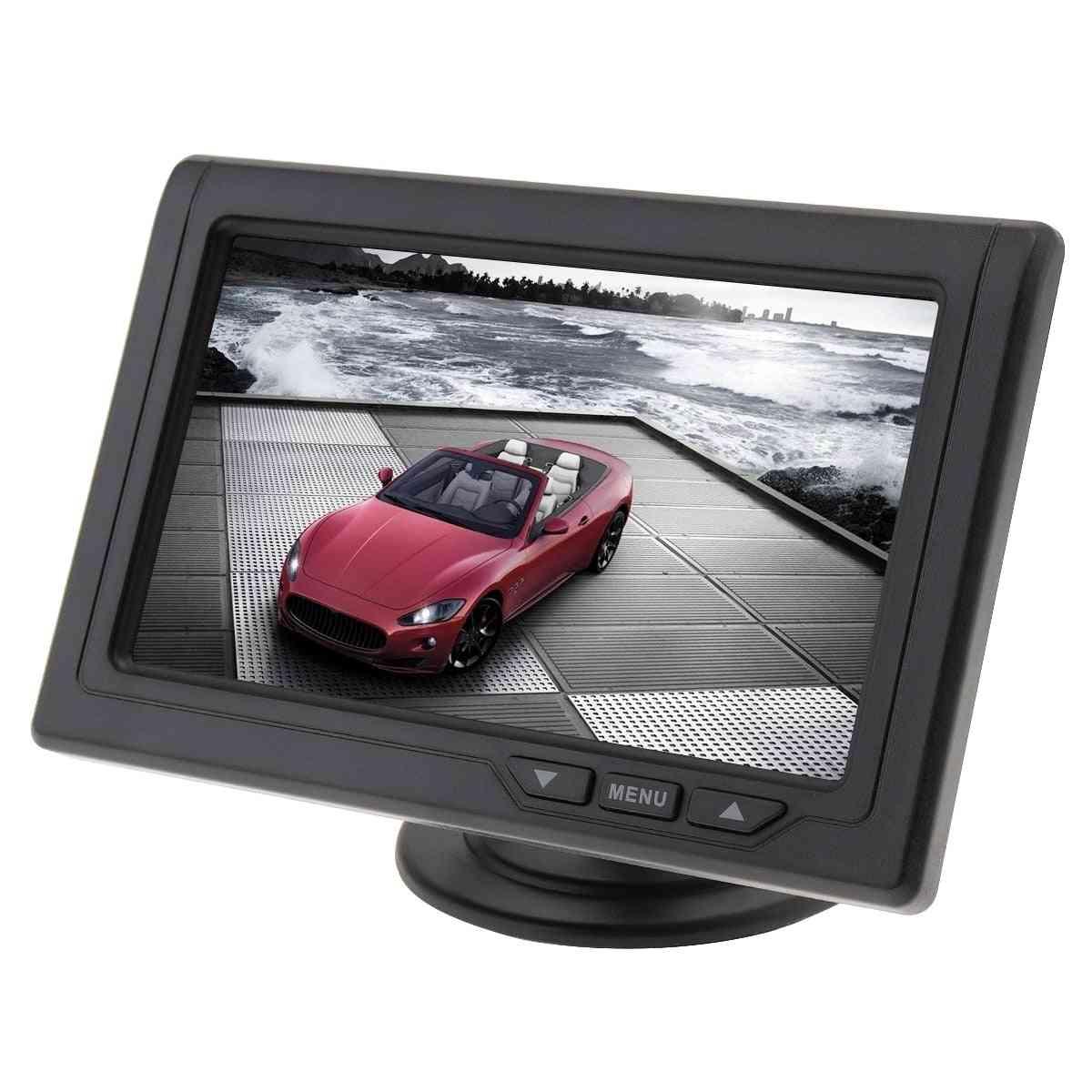 4.3 Inch Car Monitor Car Rear View Parking Backup 480 X 272 Color Tft Lcd Screen
