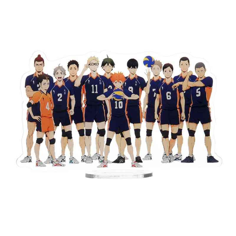 Desk Stand Figures Models Volleyball Teenagers Figures Plate Holder