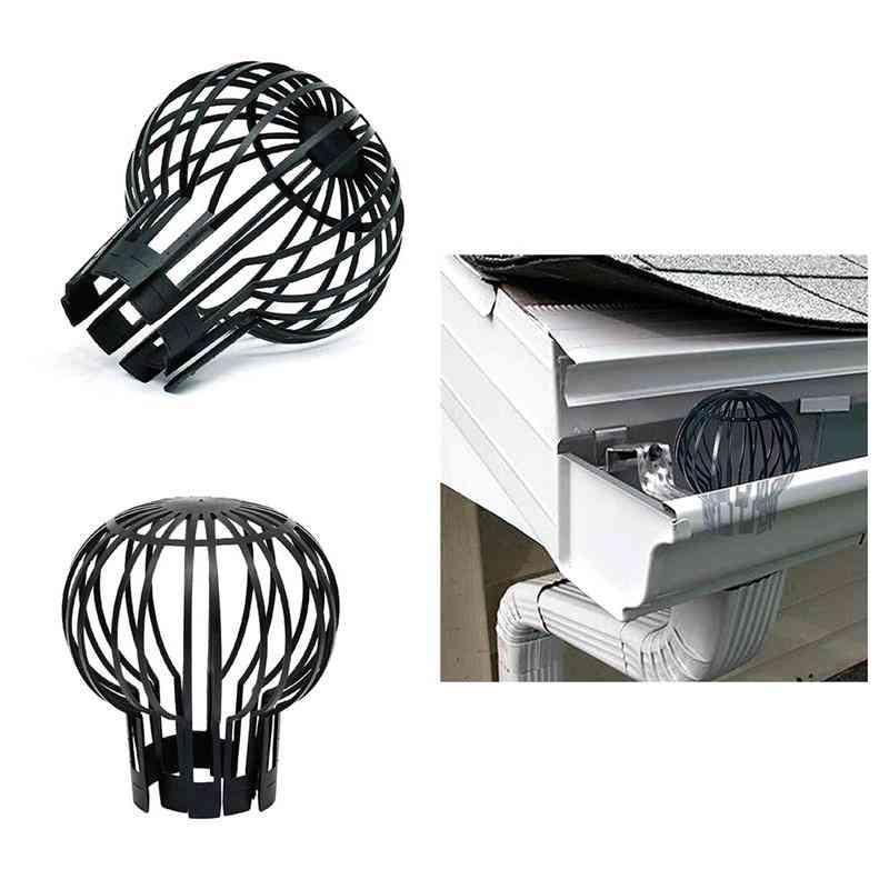 Black Plastic Drain Outdoor Roof Anti-blocking Line Cap Round Net Cover Drainage Floor Line Leak Durable Gutter Guard Filter
