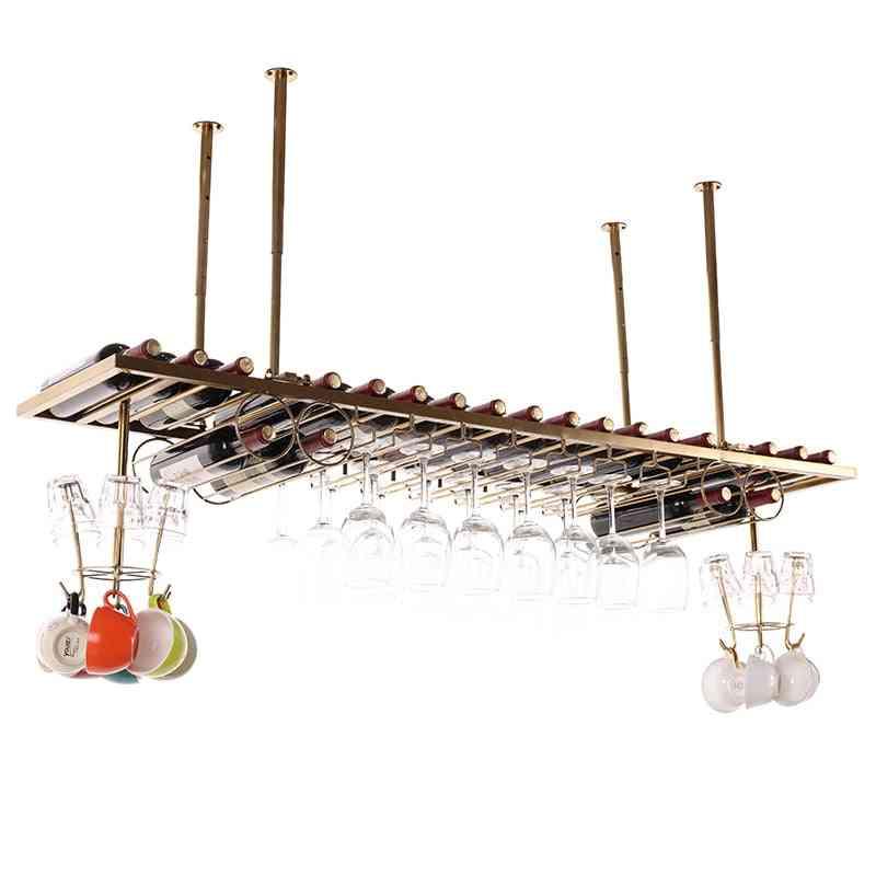 Simple Bar Counter Hanging Wine Glass Rack / Hanger