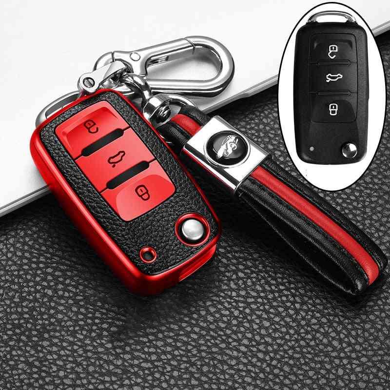 Key Protector Leather+tpu Car Key Cover Case