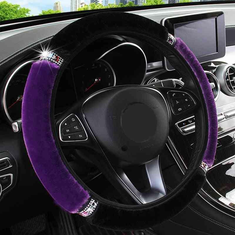 Soft Plush Car Steering Wheel Cover