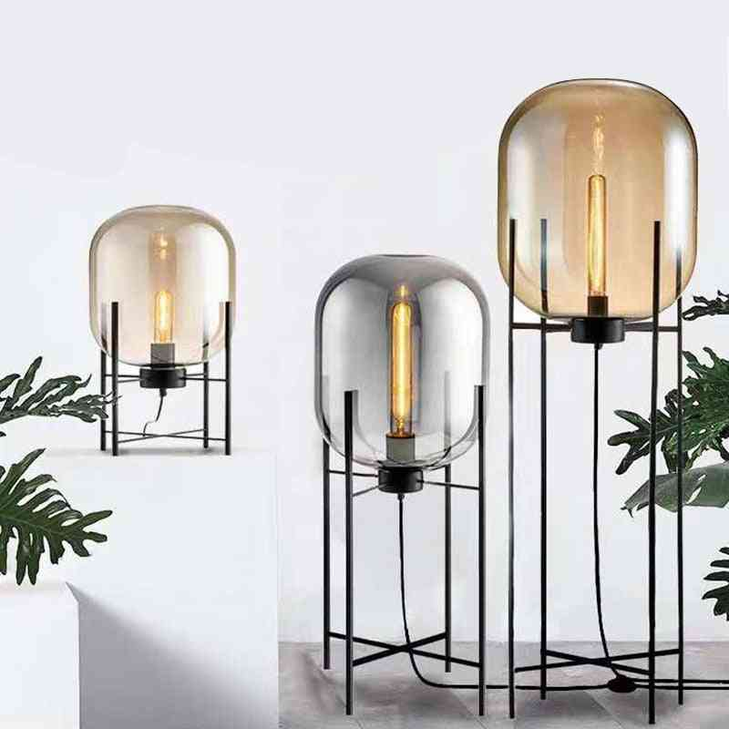 Glass Floor Lamp, Four Tripod Lamp, Home Deco Lighting Fixtures Led, Standing Lamp.