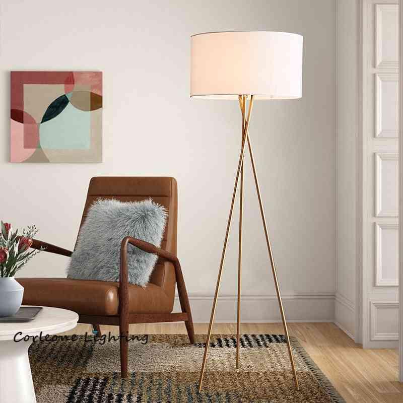 Nordic Led Floor Lamp, Modern Tripod Metal Floor Lamps For Living Room Bedroom.