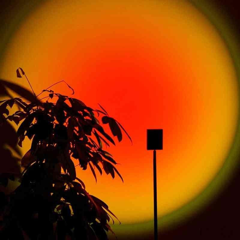 Minimalist Creative Sunset Floor Lamps, Rainbow Art Induction Standing Lights.