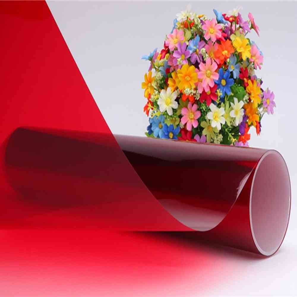 0.5m Width Red Color Decoration Solar Tint