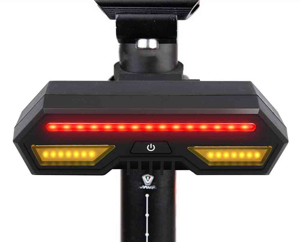 Usb Rechargeable Led Bicycle Turn Wireless Remote Control Intelligent Turn Signal Light