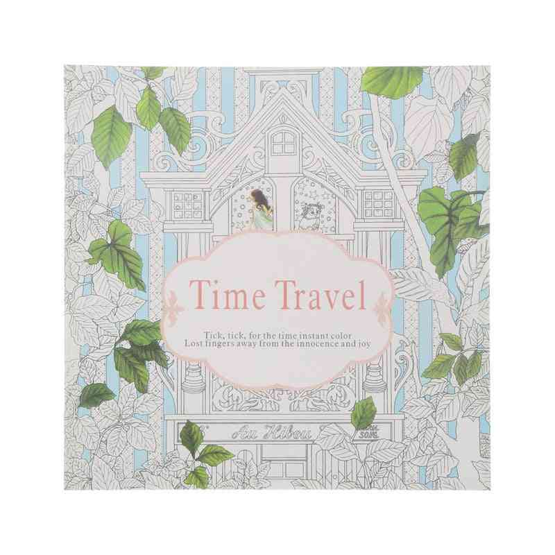 Pages Delicate Time Travel Coloring Book
