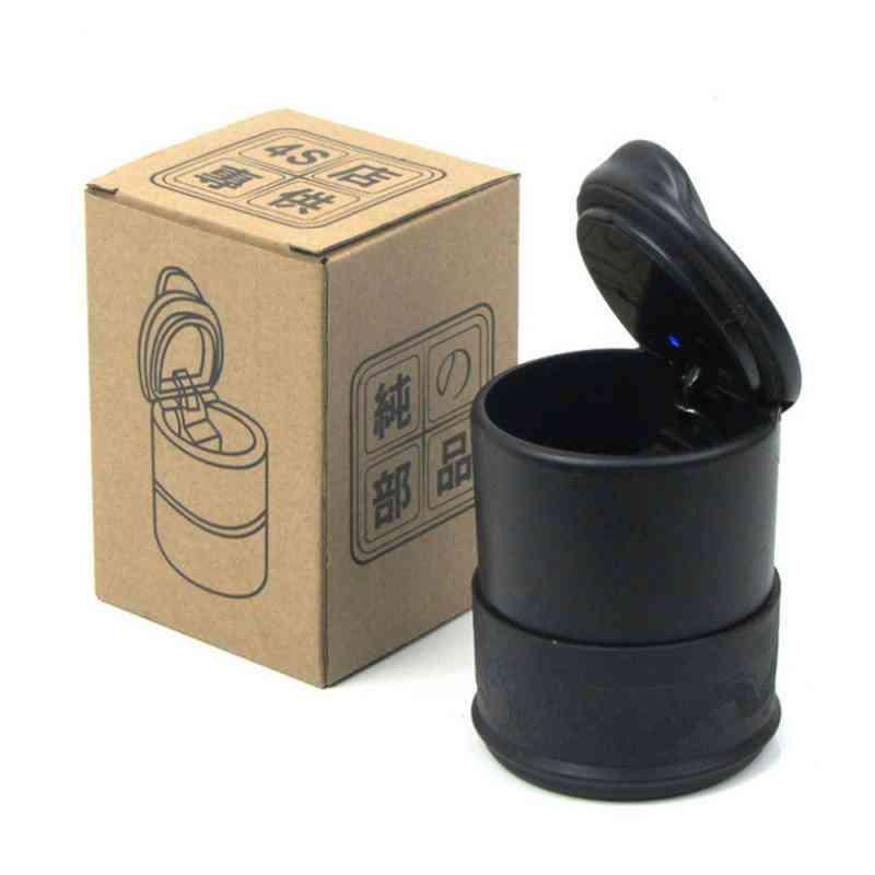 Plastic Cup Portable Smokeless Car Led Alloy Ash Tray / Cigarette Holder Box