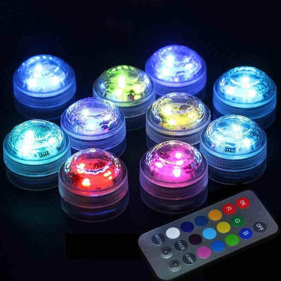 Led Lights, Underwater Night Lamp, Remote Controller Tea Light, Vase Party Decor Light.