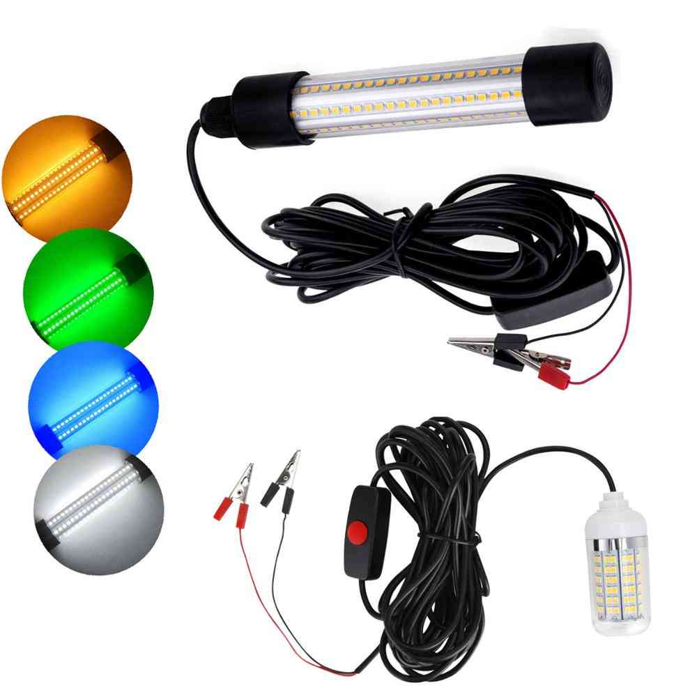 Led Underwater Light Lamp, Waterproof For Submersible Night Fishing Boat.