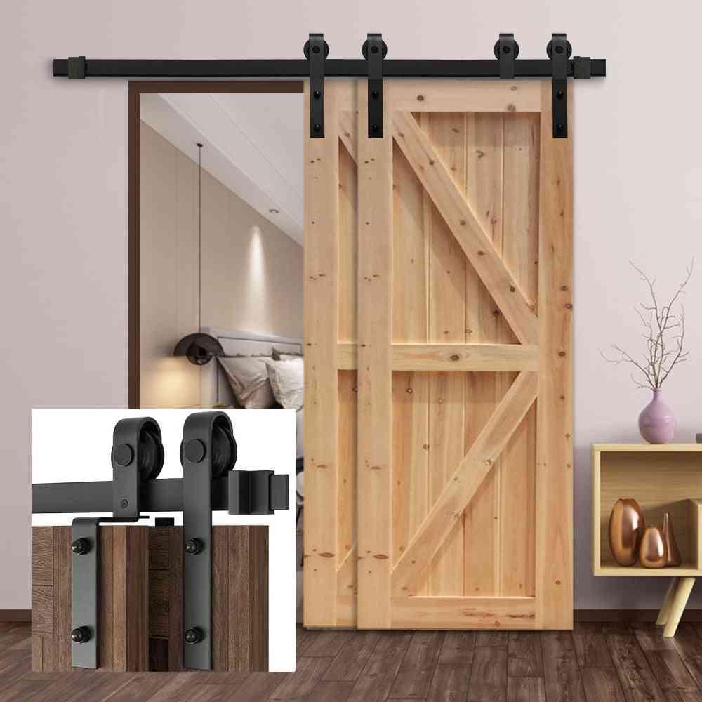 Bypass Sliding Barn Door Hardware Track Bent Hanger System