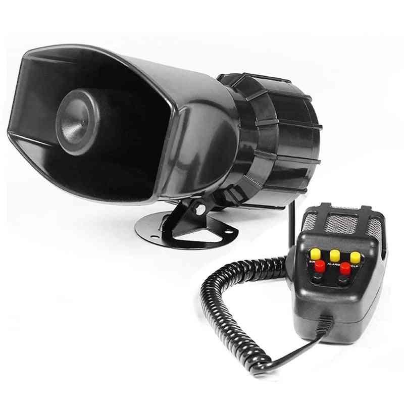 Sound Loud Car Warning Alarm, Police Fire Siren, Air Bugle Pa Speaker,  Megaphone Car Horn