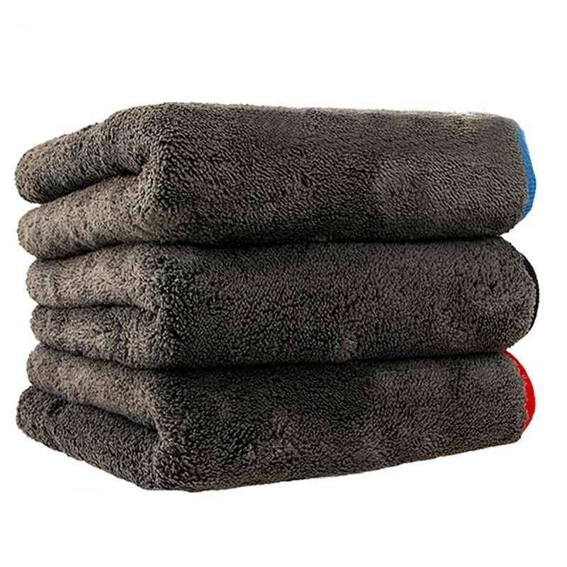 Microfiber Towel For Car Cleaning Tools Thicken Car Wash Cloths