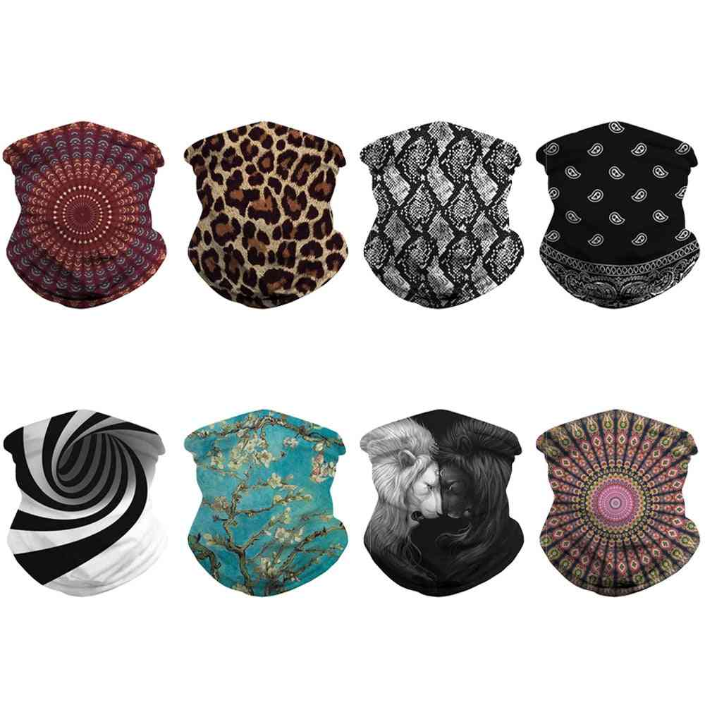 Unisex Face Cover Scarf, Washable Neck Gaiter Tube Headwear