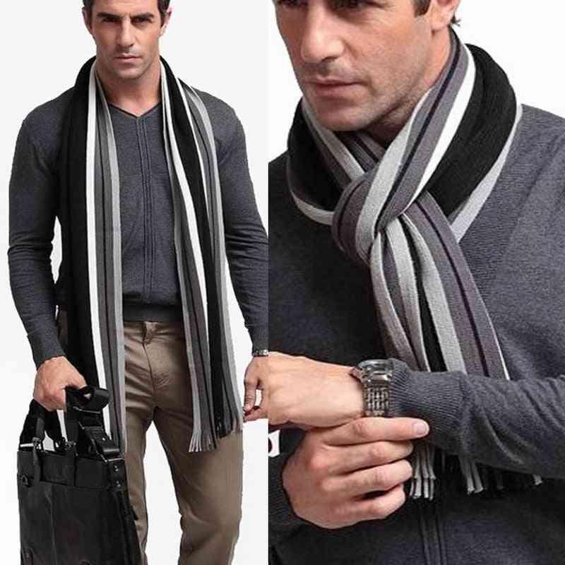 Fashion Winter Scarf For Men, Striped Scarf