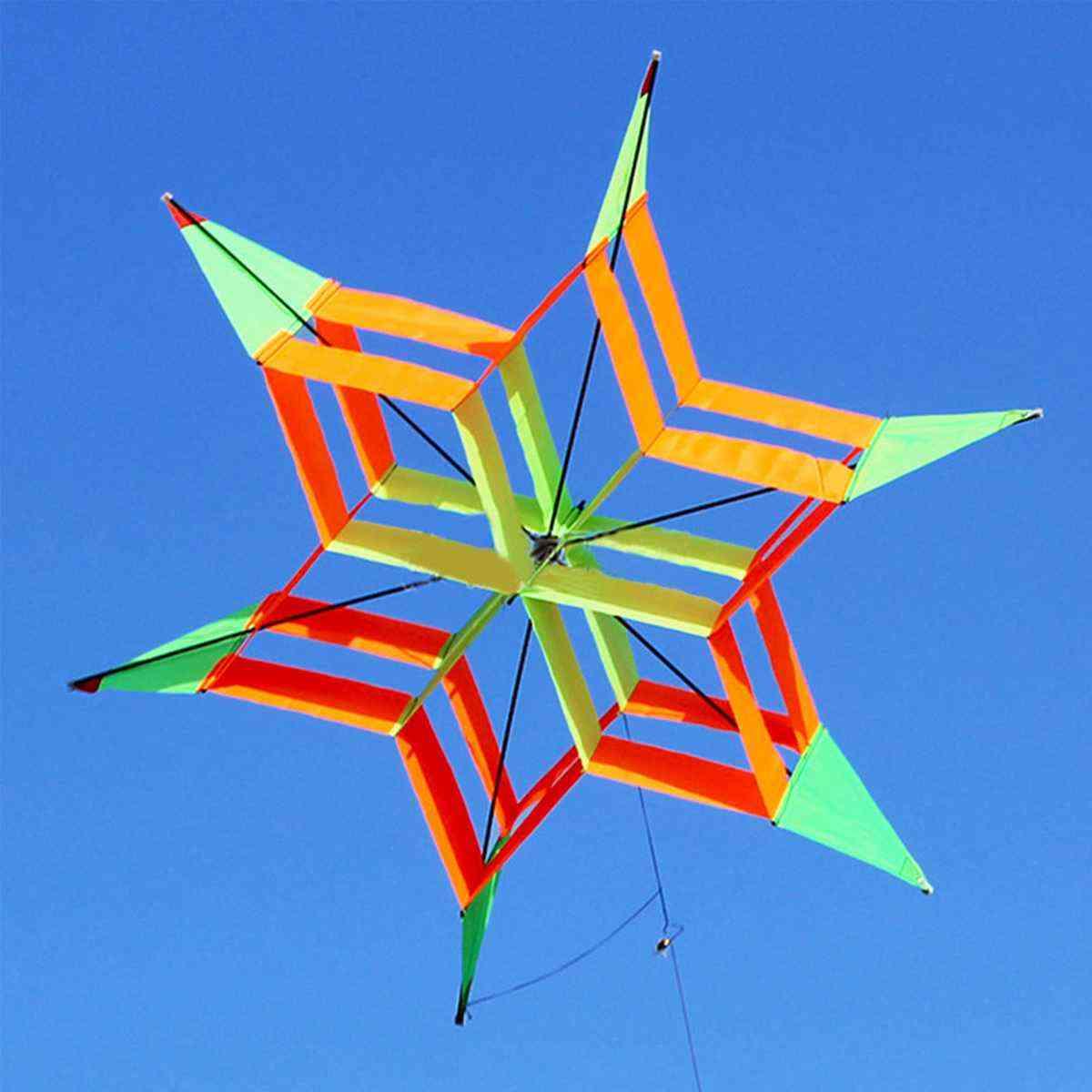 3d Colorful Flower Kite, Single Line Flying Kite