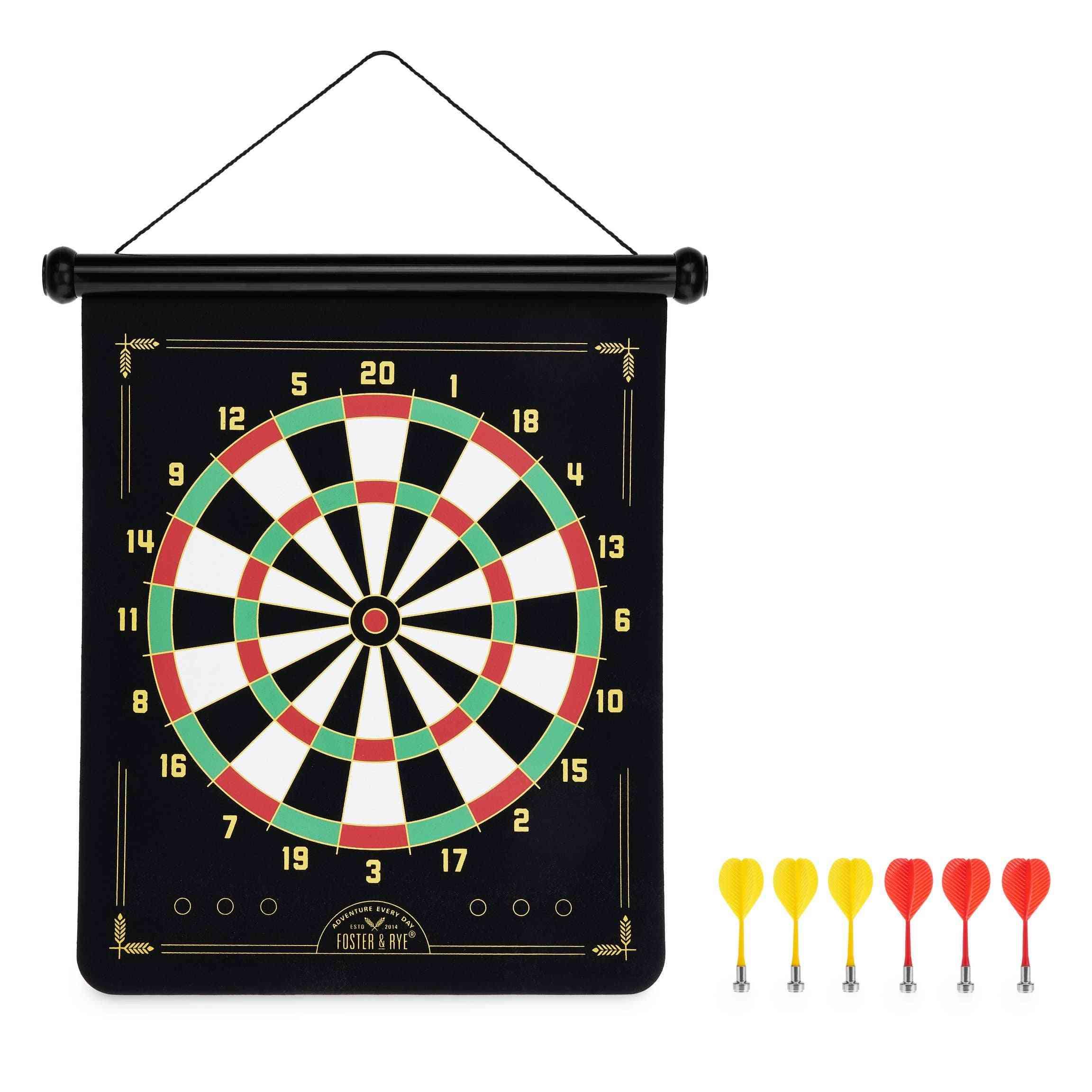 Magnetic Dart Board, Traditional & Bullseye Game Included