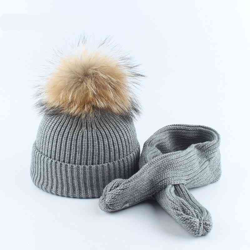 Winter Hat And Scarf Suit For