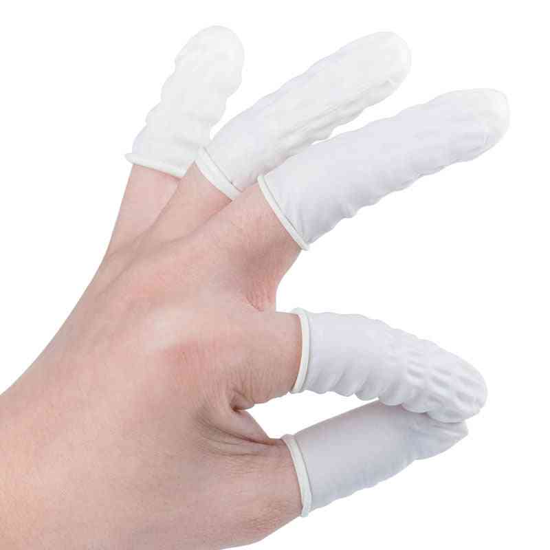100pcs/set Latex Rubber Finger Cots Sets Fingertips Protector Gloves For Watch Phone Repair Tattoo Beauty Garden Gloves