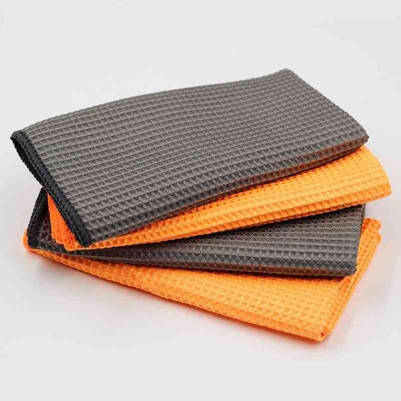 Car Microfiber Glass Cleaning Towels With Waffle