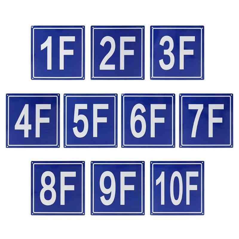 Floor Number Signs Aluminum Signs