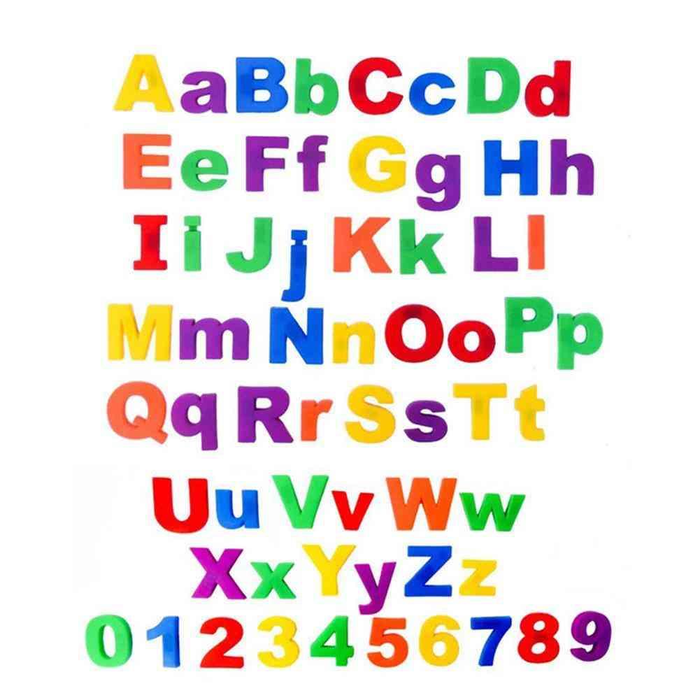 Letters Number Fridge Magnet Kid Learning Toy