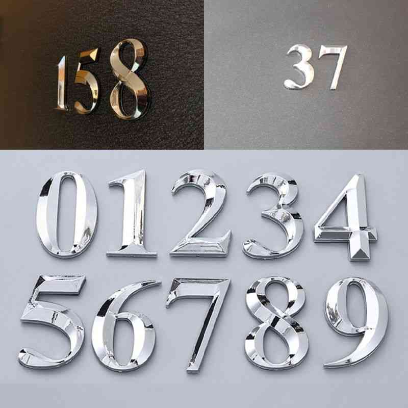 5cm House Numbers Adhesive Door Stickers Sign
