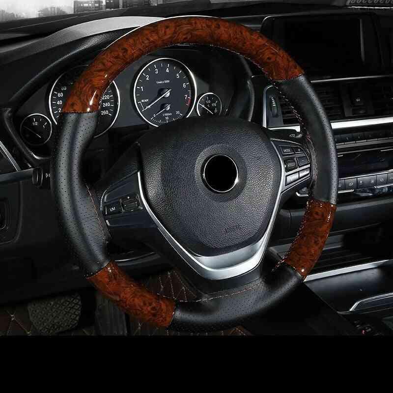 38cm Wooden Pattern Steering Wheel Cover