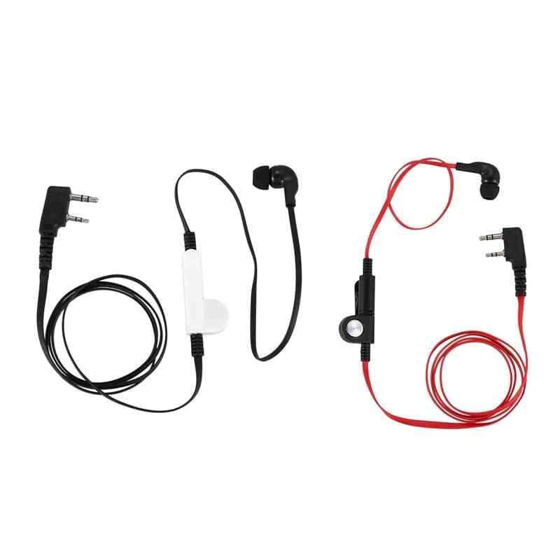 2 Pin Noodle Style Earbud Headphone K Plug Earpiece Headset