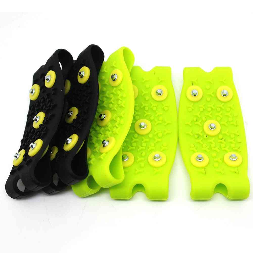 1 Pair Snow Ice Climbing Anti Slip Spikes Cleats Stud Shoes Gripper