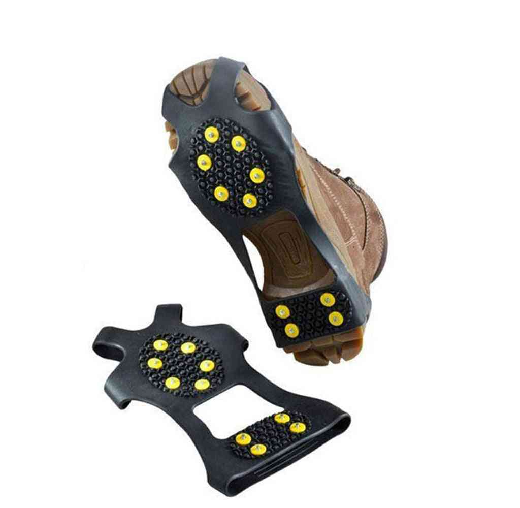 1 Pair 10 Studs Anti-skid Ice Gripper Spike Shoes Covers Crampon