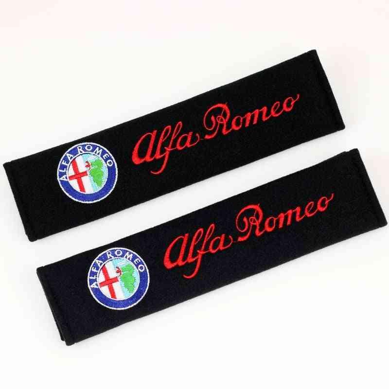 2pcs/set Car Safety Belt Embroidery Pattern Seat Belt Covers