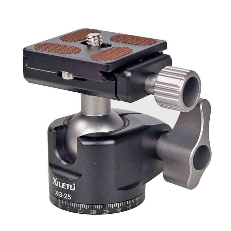 Camera Panoramic Tripod Ball Head, Quick Release,  Mount Aluminum Alloy, With Screw