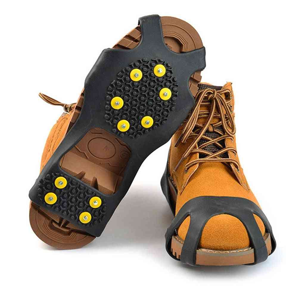 Rubber Spikes Anti Slip 10-stud Crampons Stretch Footwear Ice Gripper
