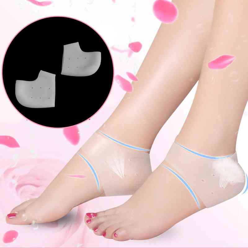 Silicone Heel Inserts Shoes Heel Cushion Relieves Pain Protector
