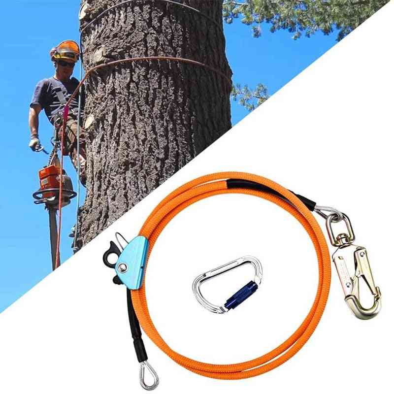 Steel Wire, Core Flip Line Kit, Climbing Positioning Rope For Arborists, Tree Climbers