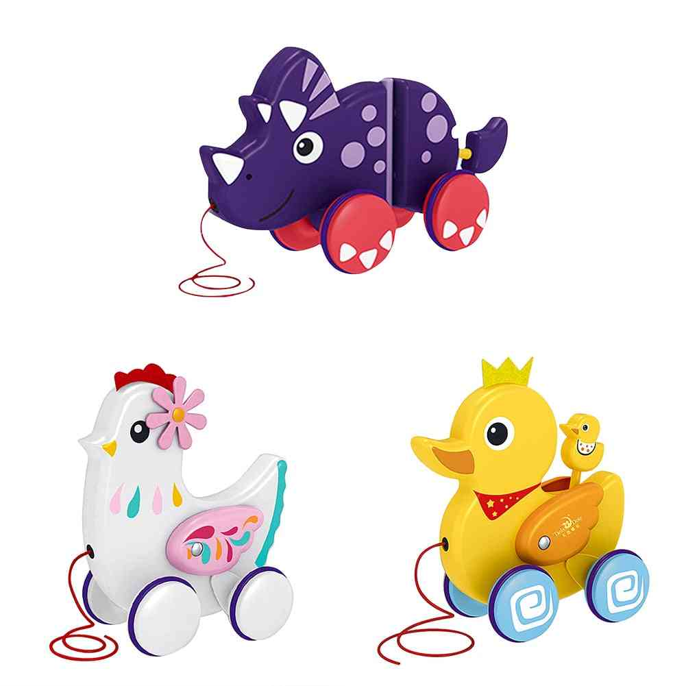 Baby Duck Dragon Animal Pull Rope Early Education Cute Mini Car Baby.