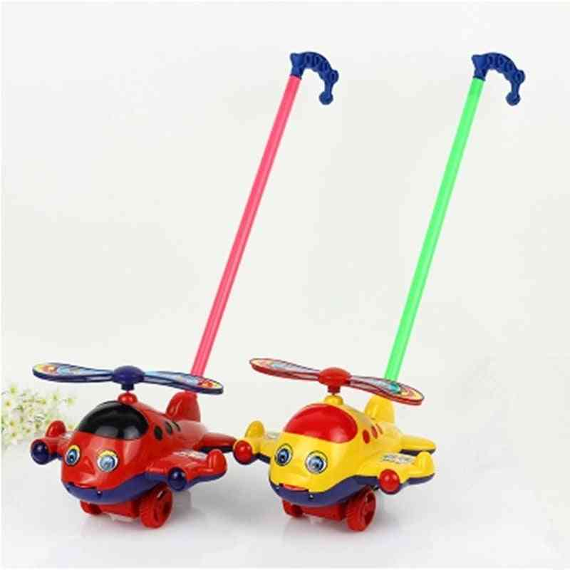 Plane Toy Plastic Push Cart For Baby Toddler Learning Walk Toy Airplane Cart.