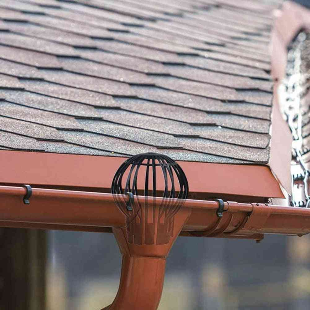Leaves Protection, Outdoor Strainer, Debris Roof Drain, Home Gutter Guard, Garden Downpipe Filter, Anti-blocking Pp