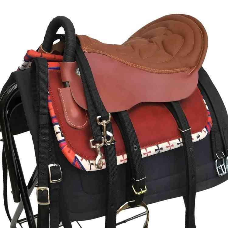 Short Saddle, Leather Horse Saddle