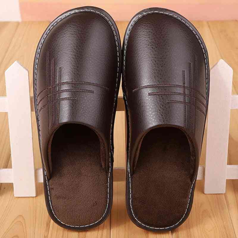Soft Short Plush Indoor Leather Winter Fashion Shoes