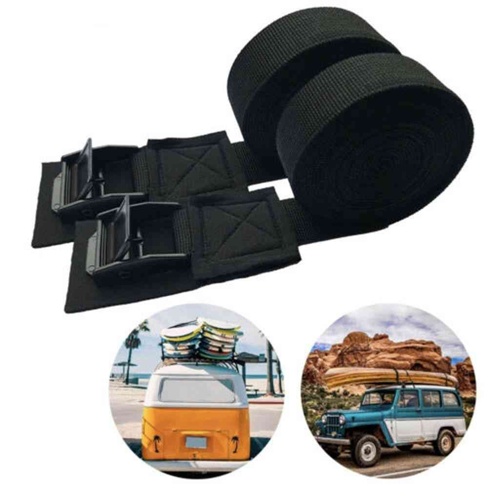 1 Pair Straps 9.8 Ft Car Roof Rack Buckle Lashing Luggage