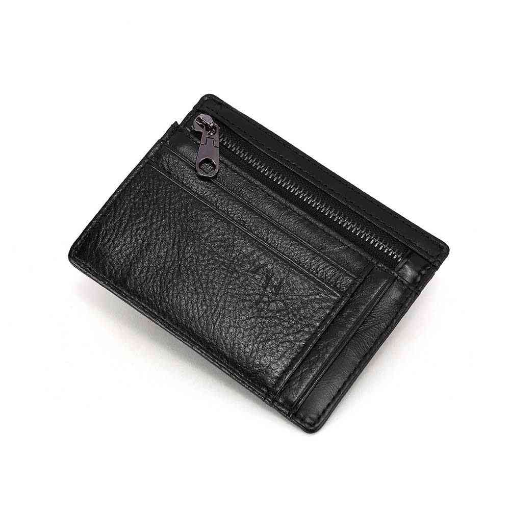 Rfid Card Holders Genuine Leather Women's Wallet With Coin Pocket