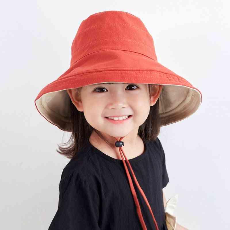 Kids Bucket Hat, Summer Uv Protection Sunscreen Hats Cap