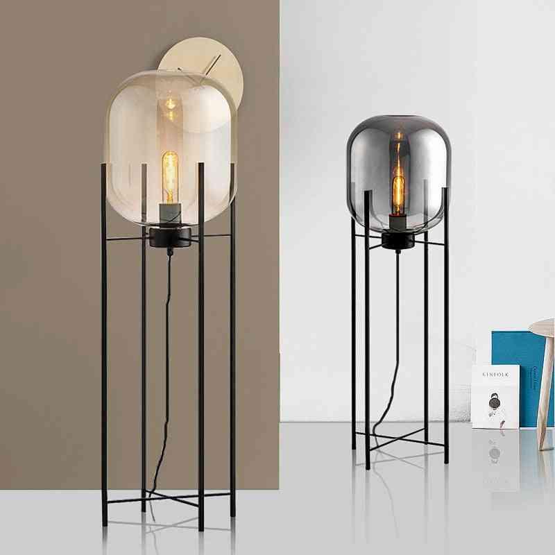 Nordic Post Modern Wax Gourd Shaped Floor Lamp