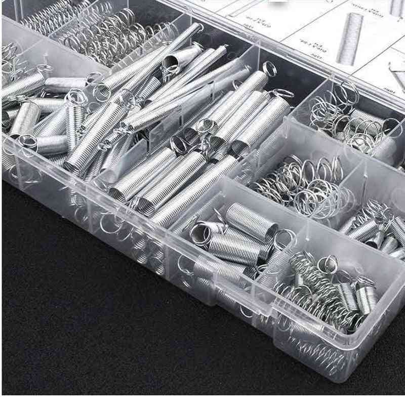Metal Steel Spring Set Assorted With Storage Box Accessories Extension And Compression Coil Portable Hardware Tool