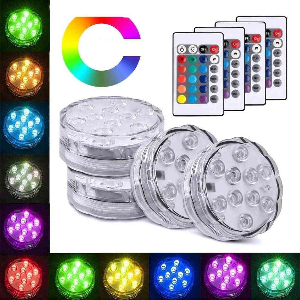 Submersible Led Lights With Remote Control, For Swimming Pool, Garden