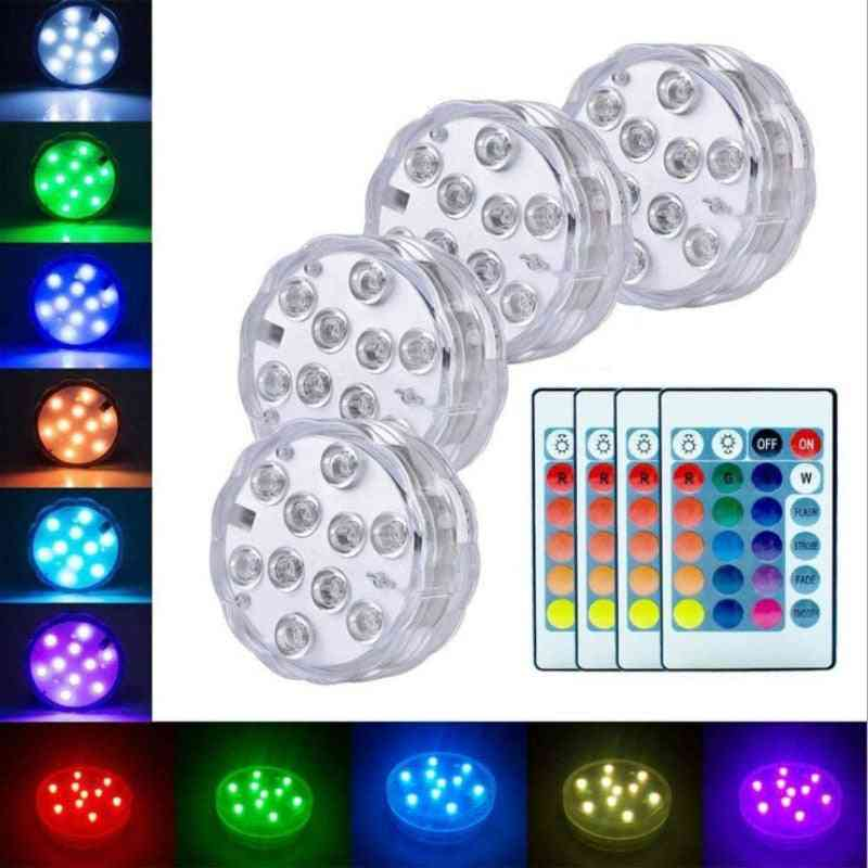 Remote Control Submersible Led Battery Powered Ip68 Fish Tank Light