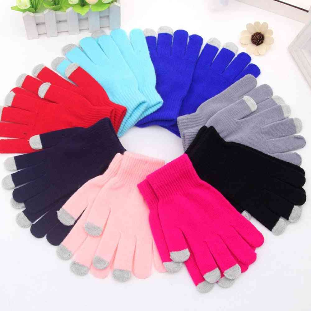Girls Unisex Capacitive Mobile Phone Smartphone Texting Touchscreen Gloves